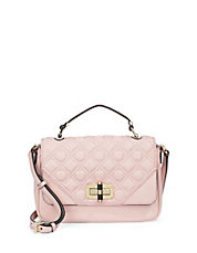 Quilted Leather Lock Crossbody