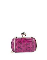 Snake-Look Leather Minaudiere