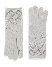 Embellished Knit Gloves
