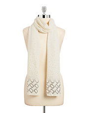 Embellished Wool-Cashmere Scarf