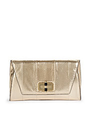 Uptown Snake Embossed Clutch