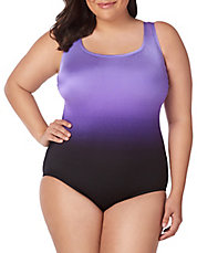 8ad22be7b877d Plus Plus Brian s Ombre Double X-Back One-Piece Swimsuit