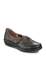 Evianna Peal Leather Blend Flats