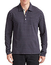 Rib Stripe Polo Shirt