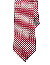 Checked Silk Jacquard Tie