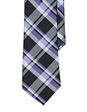 Plaid Silk Twill Tie
