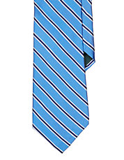 Striped Silk Cotton Tie