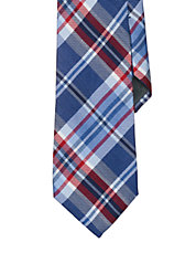 Plaid Silk-Linen Tie