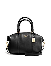 Central Pebbled Leather Satchel