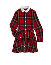 Flannel Plaid Shirt Dress