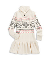 Snowflake Fleece Sweater Dress