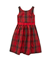 Sleeveless Plaid Party Dress