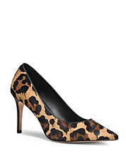 Leopard Print Calf Hair Pumps