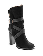 Tanya Leather and Shearling Boots