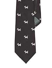 Silk Scottie Dog Print Tie