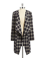 Asymmetrical Plaid Jacket