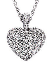 Puff Pave Heart Pendant