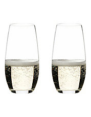 O Champagne Stemless Glasses Set of 2