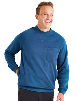 Active Joe™ Fleece Comfort Crews Thick... gutsy... and with the soft brushed fleece inside, this classic sweatshirt is designed for comfort indoors and out! Plus, there's a handy chest pocket and two hand-warmer pockets at the sides! The banded crew neck, cuffs and bottom have plenty of stretch for easy on and off. Machine wash & dry polyester/cotton.