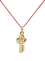 18Kt Plated Gold Charm on Cord - Key