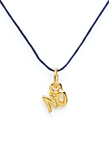 18Kt Plated Gold Charm on Cord - No