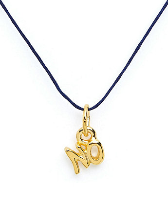 18Kt Plated Gold Charm on Cord -