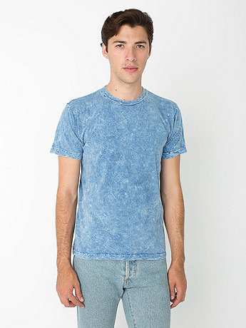 Acid Wash Jersey Short Sleeve Crew Neck T-Shirt