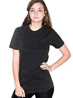 Unisex Acid Wash Jersey Short Sleeve Crew Neck T-Shirt