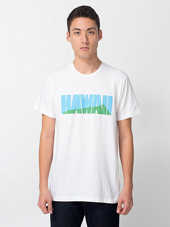 Screen Printed Fine Jersey Short Sleeve T-Shirt - Hawaii