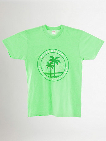 Screen Printed Tee - Holiday Palm