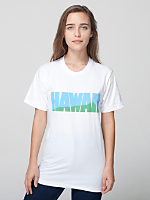 Unisex Screen Printed Fine Jersey Short Sleeve T-Shirt - Hawaii