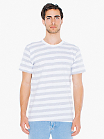 Fine Jersey Stripe Short Sleeve T-Shirt
