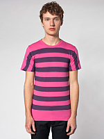Pigment Striped Jersey Short Sleeve Crew Neck T-Shirt