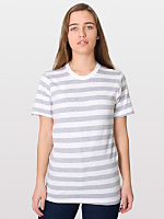 Unisex Fine Jersey Stripe Short Sleeve T-Shirt