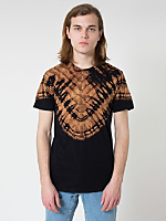 Black V Tie Dye Fine Jersey Short Sleeve T-Shirt