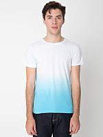 Blue Dip Dye Tie Dye Fine Jersey Short Sleeve T-Shirt