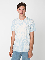 Light Blue Swirl Tie Dye Fine Jersey Short Sleeve T-Shirt