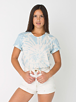 Unisex Light Blue Swirl Tie Dye Fine Jersey Short Sleeve T-Shirt