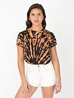 Unisex Dark Swirl Tie Dye Fine Jersey Short Sleeve T-Shirt