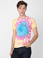 Indian Summer Tie Dye Fine Jersey Short Sleeve T-Shirt