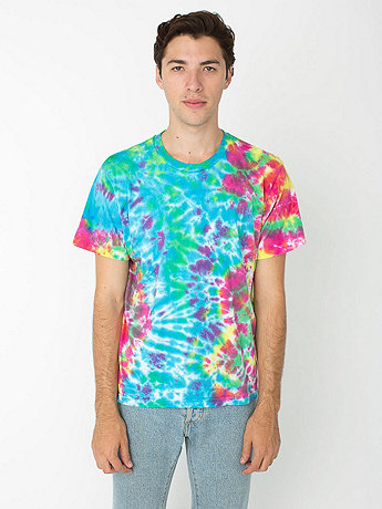 Kaleidoscope Tie Dye Fine Jersey Short Sleeve T-Shirt