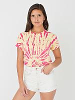 Unisex Lemon Fuchsia Swirl Tie Dye Fine Jersey Short Sleeve T-Shirt