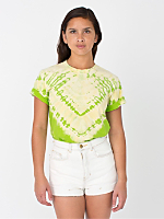 Unisex Lime V Tie Dye Fine Jersey Short Sleeve T-Shirt