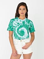Unisex Moonstone Swirl Tie Dye Fine Jersey Short Sleeve T-Shirt