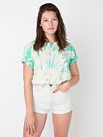 Unisex Mint Swirl Tie Dye Fine Jersey Short Sleeve T-Shirt