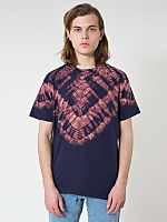 Navy V Tie Dye Fine Jersey Short Sleeve T-Shirt