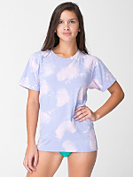Unisex Purple Cloud Tie Dye Fine Jersey Short Sleeve T-Shirt