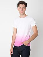 Pink Dip Dye Tie Dye Fine Jersey Short Sleeve T-Shirt