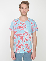 Red/Blue Splash Tie Dye Fine Jersey Short Sleeve T-Shirt
