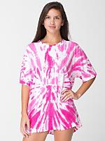 Unisex Bright Swirl Tie Dye Fine Jersey Short Sleeve T-Shirt